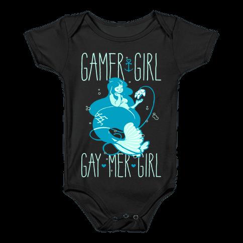 Gamer Girl Gay Mer Girl Baby Onesy