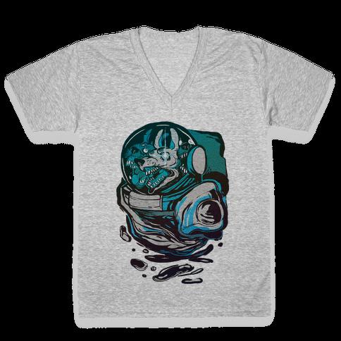 Space Madness V-Neck Tee Shirt