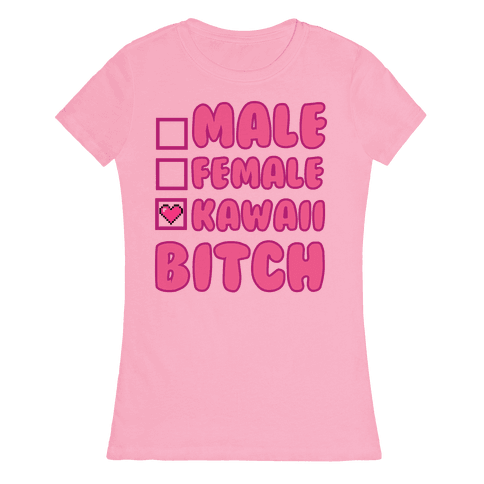 Kawaii Bitch Womens T-Shirt