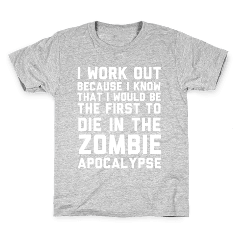 First to Die in The Zombie Apocalypse Kids T-Shirt