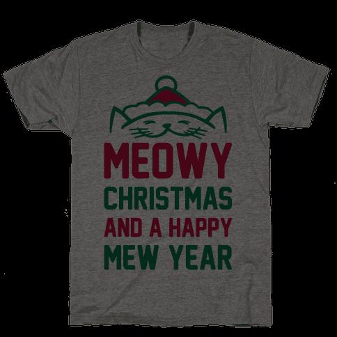 Meowy Christmas Mens T-Shirt