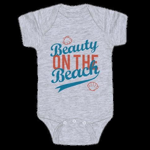 Beauty On The Beach (Tank) Baby Onesy