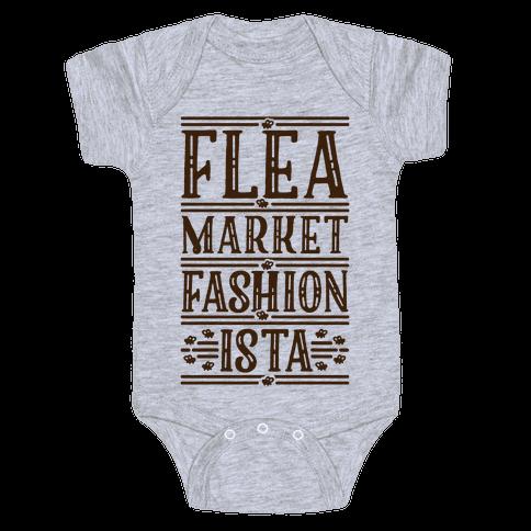 Flea Market Fashionista Baby Onesy