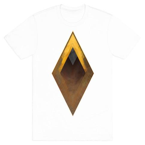 Golden Diamond Mens T-Shirt