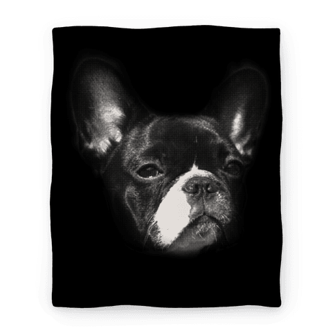 Boston Terrier Face Blanket