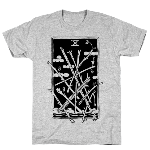 Ten Of Wands Mens T-Shirt