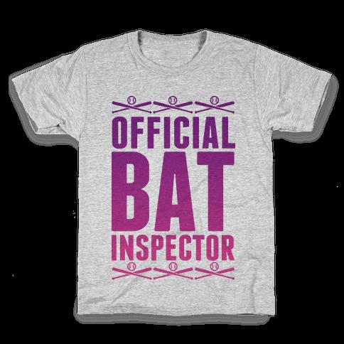 Official Bat Inspector  Kids T-Shirt