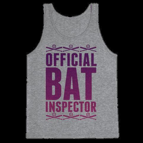 Official Bat Inspector  Tank Top