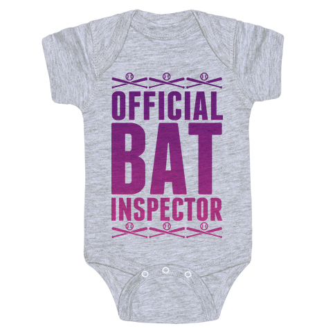 Official Bat Inspector  Baby Onesy