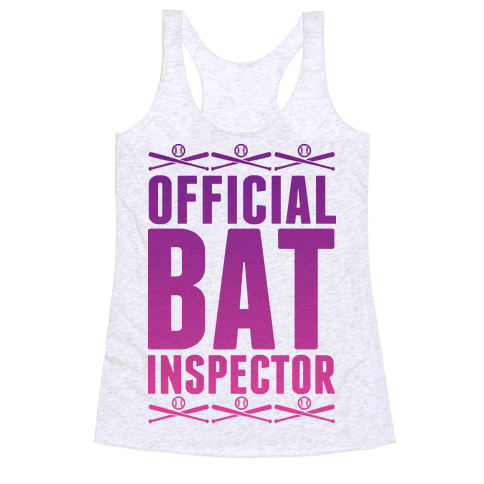 Official Bat Inspector  Racerback Tank Top