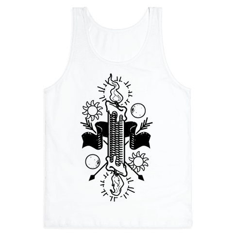 Burning the Candle at Both Ends Tank Top