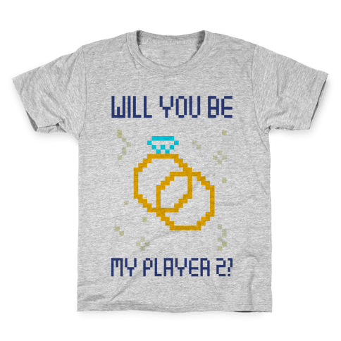 Will You Be My Player 2 Kids T-Shirt