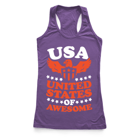 United States of Awesome Racerback Tank Top