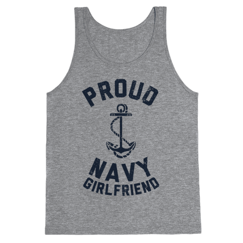 Proud Navy Girlfriend Tank Top