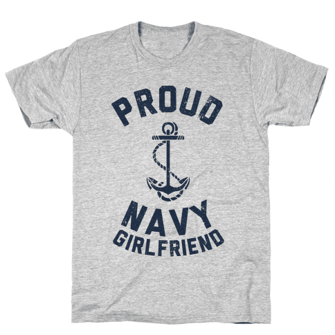 Proud Navy Girlfriend Mens T-Shirt