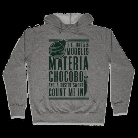 If It Involves Moogles Materia or Chocobo Hooded Sweatshirt