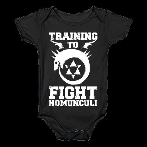 Training to Fight Homunculi Baby Onesy
