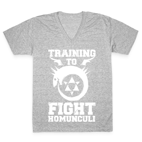 Training to Fight Homunculi V-Neck Tee Shirt