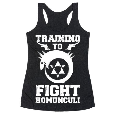 Training to Fight Homunculi Racerback Tank Top