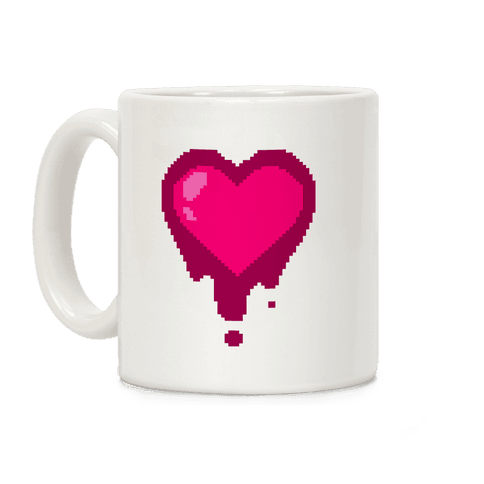 Bleeding Pixel Heart Coffee Mug