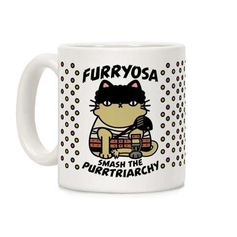 Furryosa Smash the Purrtriarchy Coffee Mug