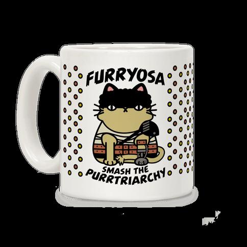 Furryosa Smash the Purrtriarchy Coffee Mug