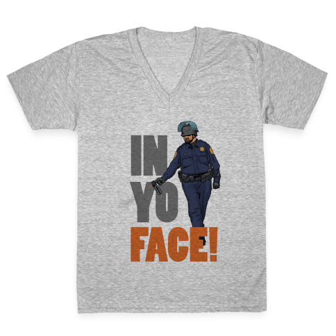 Officer John Pike In yo face! V-Neck Tee Shirt