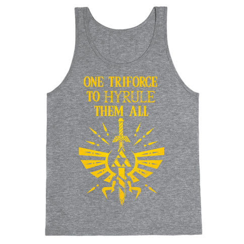 One Triforce To Hyrule Them All Tank Top