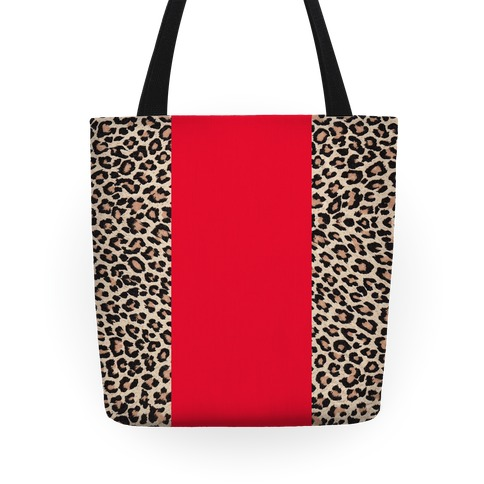Leopard and Red Tote Tote