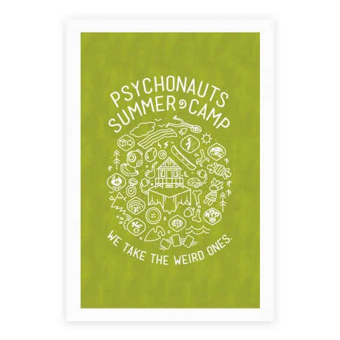 Psychonauts Summer Camp Poster Poster