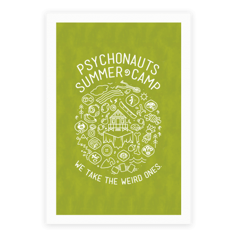 Psychonauts Summer Camp Poster