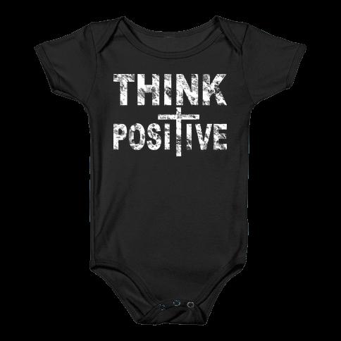 Think Positive Baby Onesy
