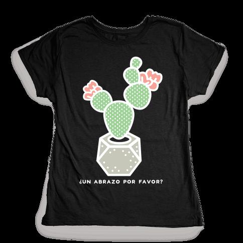 Cactus Hugs Womens T-Shirt