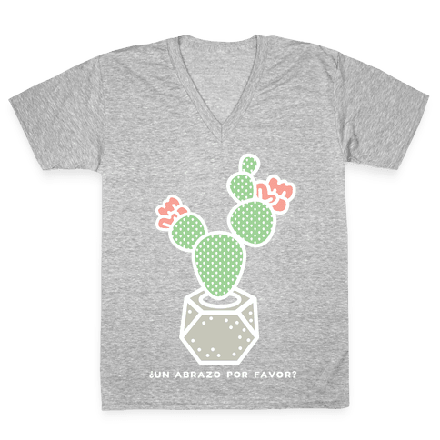 Cactus Hugs V-Neck Tee Shirt