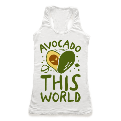 Avocado This World Racerback Tank Top