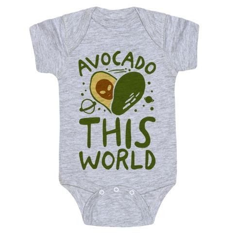 Avocado This World Baby Onesy