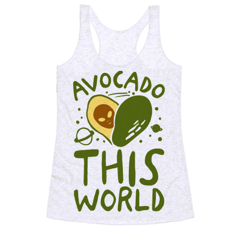 Avocado This World Racerback Tank Top