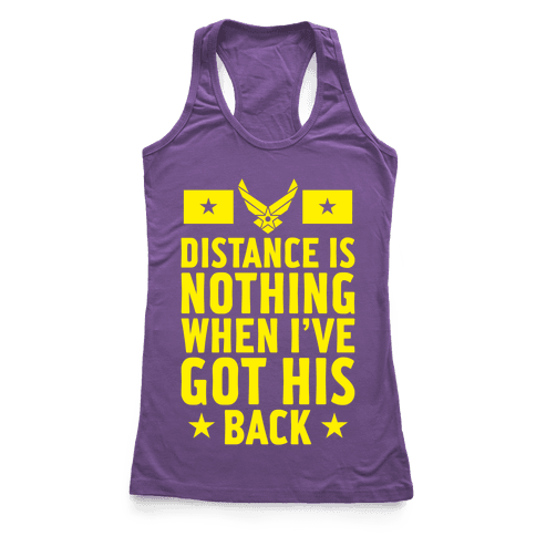I've Got His Back (Air Force) Racerback Tank Top