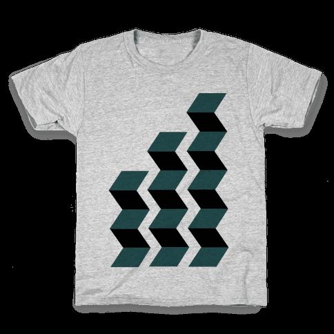 Geometric Folding Screen Kids T-Shirt
