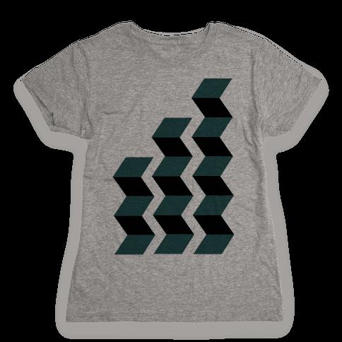 Geometric Folding Screen Womens T-Shirt