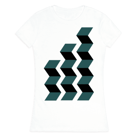 Geometric Folding Screen Womens T-Shirt