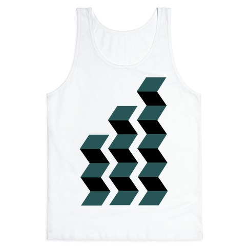 Geometric Folding Screen Tank Top
