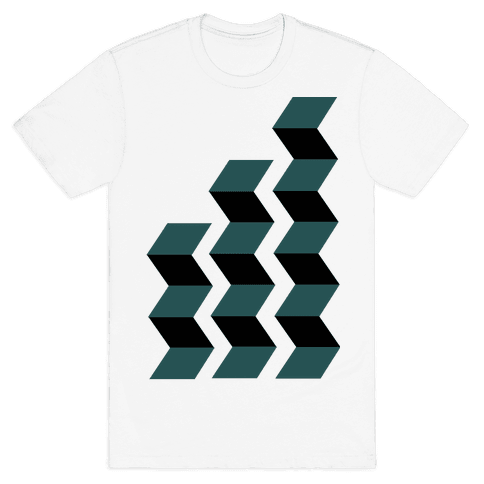 Geometric Folding Screen Mens T-Shirt