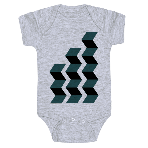 Geometric Folding Screen Baby Onesy