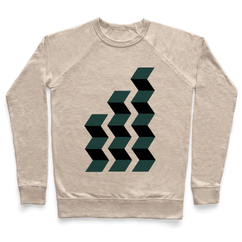 Geometric Folding Screen Pullover