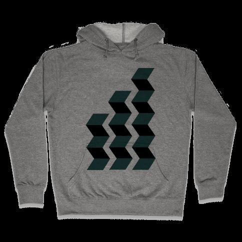 Geometric Folding Screen Hooded Sweatshirt