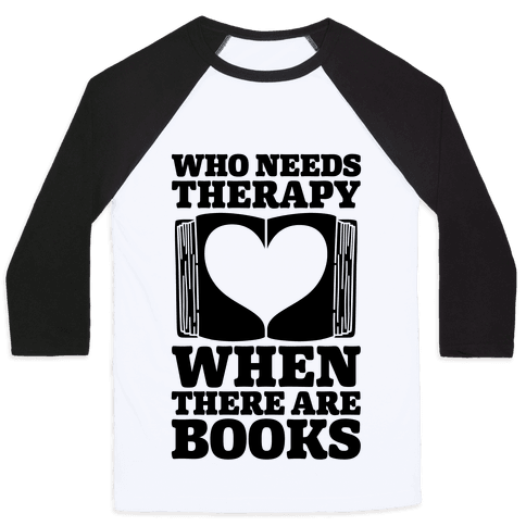 Book Therapy Baseball Tee