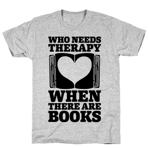 Book Therapy Mens T-Shirt