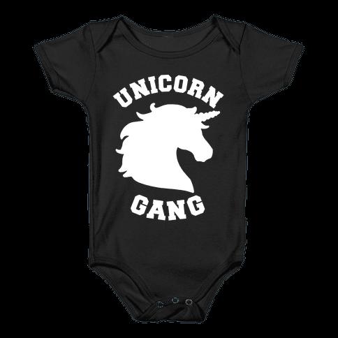 Unicorn Gang Baby Onesy