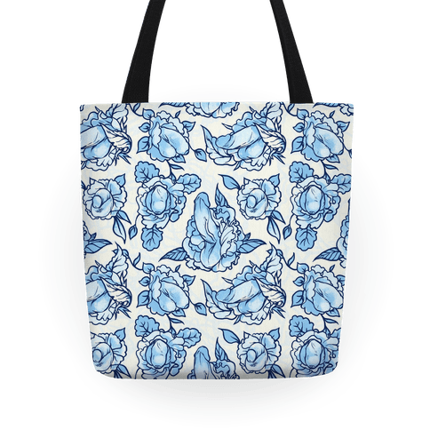 Floral Penis Pattern Blue